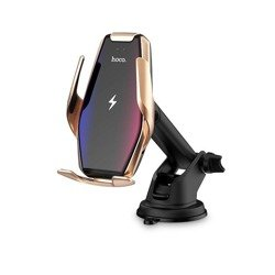 HOCO S14 CAR MOUNT WIRELESS CHARGER GOLD
