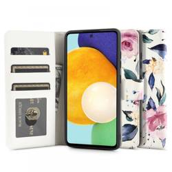 TECH-PROTECT WALLET GALAXY A52 LTE/5G FLORAL WHITE